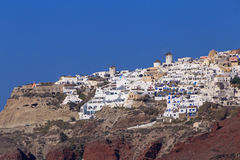 Sight of Oia town Royalty Free Stock Photos