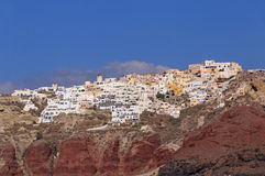 Sight of Oia town on Santorini island Royalty Free Stock Photography