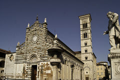 Sight of Prato Cathedral square Royalty Free Stock Images