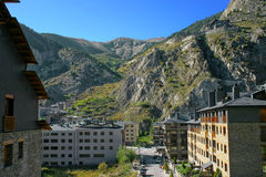 Sight from Pyrenees. Landscape of Pyrenees mountains at Canillo (Andorra Stock Photos