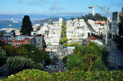 Sight of San Francisco. View on San Francisco over the Lombard Street Royalty Free Stock Photos