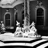 Sight Sansoucci Konstnärlig blick i svartvitt Arkivbilder