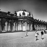 Sight Sansoucci Konstnärlig blick i svartvitt Arkivbild