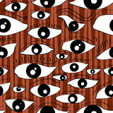 Sight Seamless Pattern. Illustration of eyes for sight, looking seamless pattern Royalty Free Stock Photo