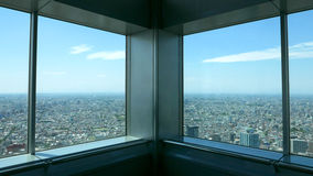 Sight seeing from Japan building Stock Photos