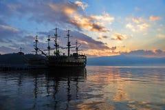 Sight seeing ships on Lake Ashi, Japan Stock Photography