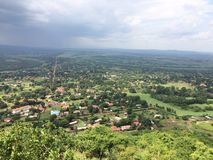 Sight seeing, sipi, kapchorwa, Uganda. Evening sight seeing as beautiful as it is! This is in the rainy season Royalty Free Stock Image