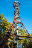 Sight seeing tower. To see nature from above, Moletai, Lithuania Stock Image