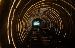 Sight seeing tunnel under Huangpu river in Shanghai Royalty Free Stock Image