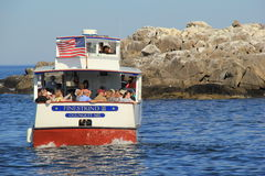 Sight-seers going out on the Finest Kind III cruise boat,Ogunquit,Maine,September,2014 Stock Photo