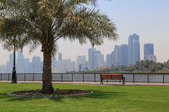 Sight of Sharjah. From pedestrian walkway Royalty Free Stock Photos