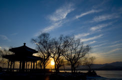 A sight of Summer Palace. Pavilion  of Summer Palace in Evening Stock Photography
