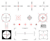 Sight. Vector illustration. A diverse set of sights Royalty Free Stock Photography