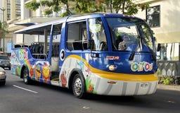 Sighten turnerar bussen Royaltyfria Foton