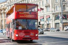 Sighten turnerar bussen Royaltyfri Fotografi