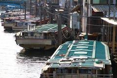 Sightfartyg av den Japan Kanda floden Arkivbilder