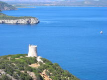 Sighting tower in Capo Caccia Royalty Free Stock Photography