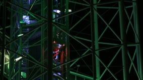 Sightkabin av det alfabetiska tornet som ner går, Batumi gränsmärke, turism lager videofilmer