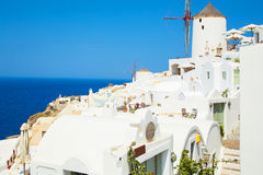 Sights of amazing Santorini,island of Saint Irini Stock Photo