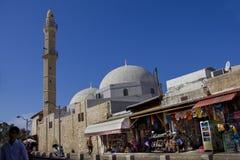 Sights of the ancient city of Jaffa, Israel. Mahmudiya Mosque. Stock Images