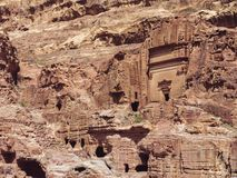 Sights of the ancient city of Petra royalty free stock images