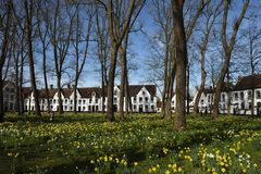 Postcards of Bruges beguinage 13 Royalty Free Stock Photography