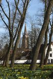 Postcards of Bruges beguinage 8 Royalty Free Stock Photo