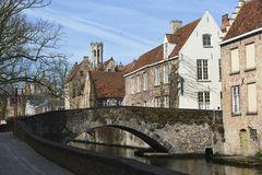 Postcards of Bruges Stock Image