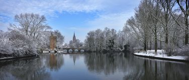 Bruges in wintertime royalty free stock images