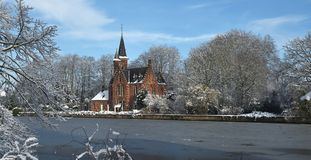 Bruges in wintertime royalty free stock photography