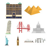 Famous buildings and monuments of different countries and cities.  Stock Photos