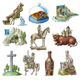 Sights of the Germany. Cheerful hand pictures about sights of the Germany Royalty Free Stock Images