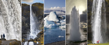 Landmarks of Iceland stock image