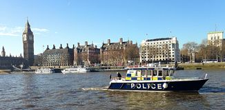 The sights of London Town. River Thames Westminster Royalty Free Stock Images