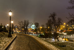 Sights of Moscow,the Moscow Kremlin and the Alexander garden, Stock Photos