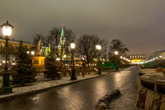 Sights of Moscow,the Moscow Kremlin and the Alexander garden, Royalty Free Stock Image
