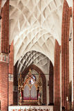 Sights of Poland. Beautiful vault in Gothic church. Stock Image