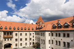 Sights of Poland. Castle Bytow . Sights of Poland. Bytow Old Town with Gothic castle Stock Photo
