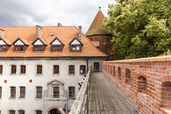 Sights of Poland. Castle Bytow . Sights of Poland. Bytow Old Town with Gothic castle Stock Images