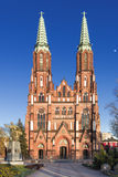 Sights of Poland. Church in Warsaw. Royalty Free Stock Photography