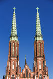 Sights of Poland. Church in Warsaw. Stock Photography