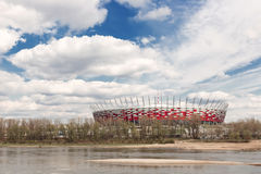 Sights of Poland. National Stadium in Warsaw. Stock Photos