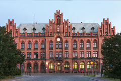 Sights of Poland. Old building of post office Stock Photo