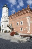 Sights of Poland. Old Town in Sandomierz. Royalty Free Stock Photo