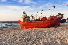 Sights of Poland. Sunset at Baltic sea Royalty Free Stock Image