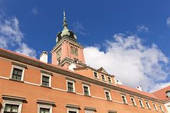 Sights of Poland. Warsaw Royal Castle. Stock Image