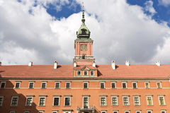 Sights of Poland. Warsaw Royal Castle. Royalty Free Stock Photography
