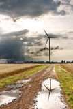Sights of Poland. Wind farm in Poland Stock Image