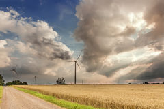 Sights of Poland. Wind farm in Poland Stock Images