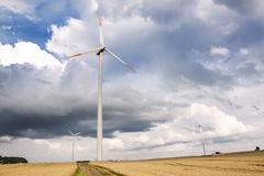 Sights of Poland. Wind farm in Poland Stock Photography